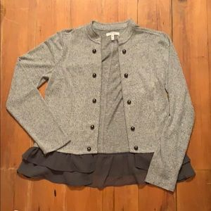 Maurice's Military Lace Trim Cardigan